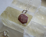 Natural Ruby Raw Gemstone Corundum Pendant