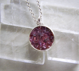Natural Ruby Spinel Gemstone Crystals Pendant