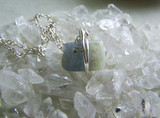 Natural Sapphire Raw Gemstone Two Tone Blue Green Pendant