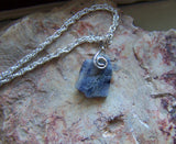 Natural Blue Kashmir Raw Sapphire Gemstone Pendant Necklace