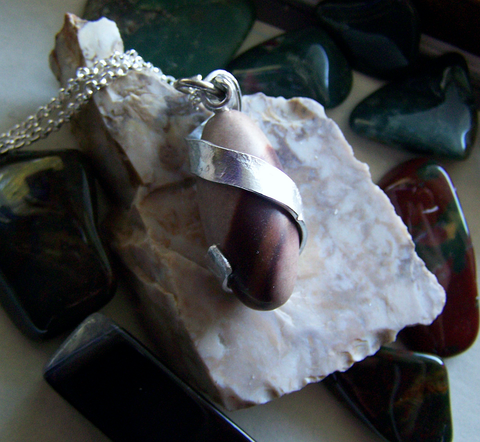 Shiva Lingham Natural Wire Wrapped Stone Pendant