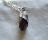 Shiva Lingam Natural Wire Wrapped Stone Pendant