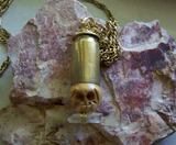 Day of the Dead Skull Bullet Jewelry Pendant