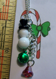 Winter Snowman Jingle Bells Necklace