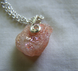 Natural Oregon Sunstone Crystal Pendant
