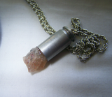 Oregon Sunstone Raw Gemstone Bullet Jewelry Pendant