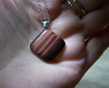 Natural Red Tiger's Eye Polished Gemstone Pendant
