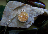 Golden Topaz Gemstone Pavé Crystal Pendant