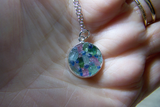 Natural Multicolor Tourmaline Gemstones Pendant Necklace