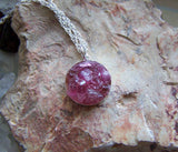 Pink Rubellite Tourmaline Crystal Gemstones Pendant Necklace