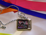 Vintage Retro TV Test Pattern Pendant Necklace