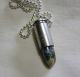 Multicolor Variscite Silver Bullet Jewelry Pendant
