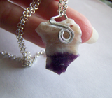 Violet Flame Opal Raw Gemstone Pendant
