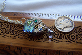 Mechanical Watch Works Butterfly Crystal Pendant