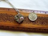 Watchworks Rose and Ruby Steampunk Vintage Pendant