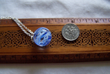 Vintage Swirl Glass Marble Witch's Ball Pendant