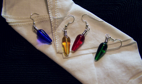 Retro Holiday Lights Earrings