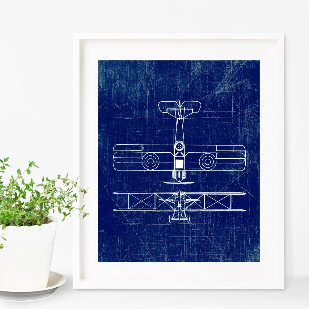 Airplane Wall Art - Vintage Reproduction