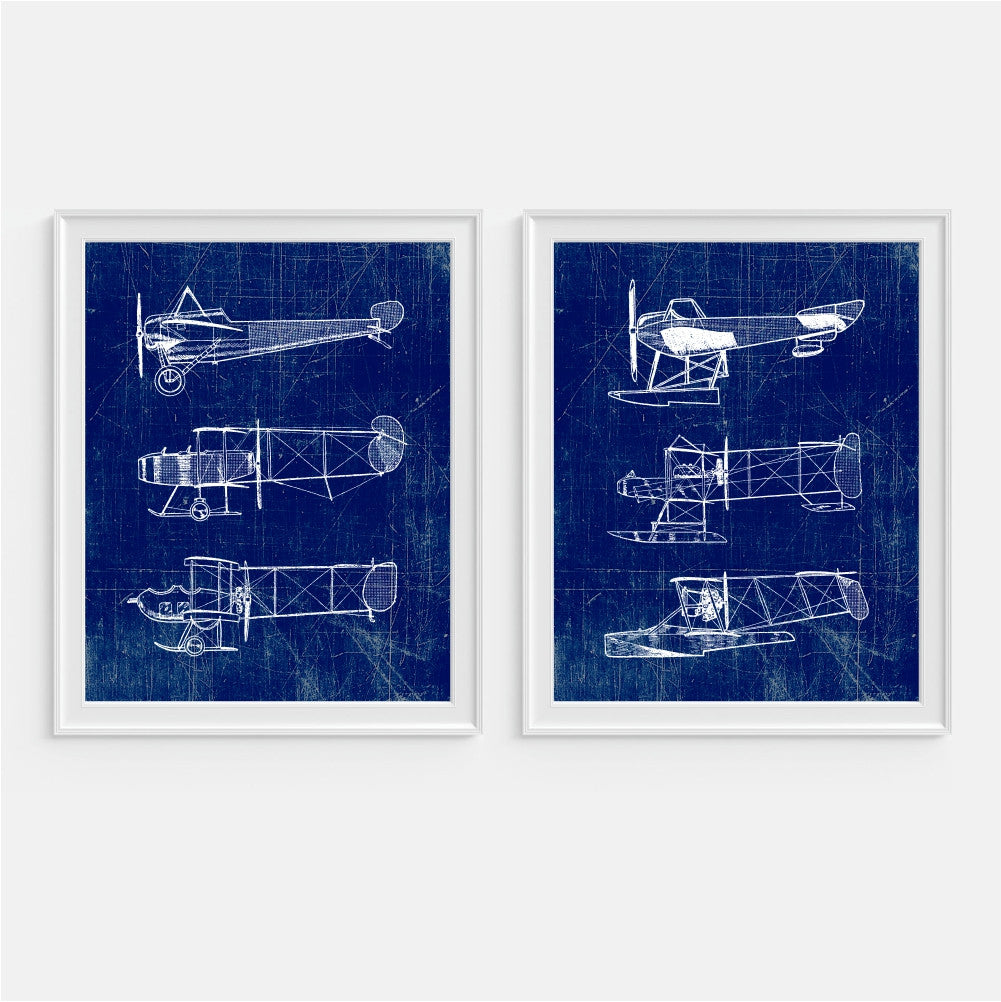 Aviation Airplane Wall Art Draft Paper