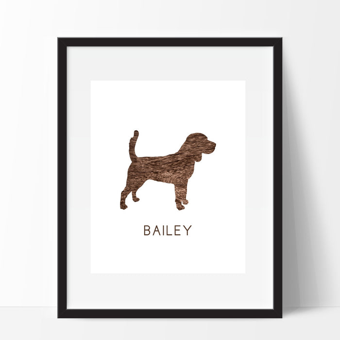 Personalized Dog Art Beagle