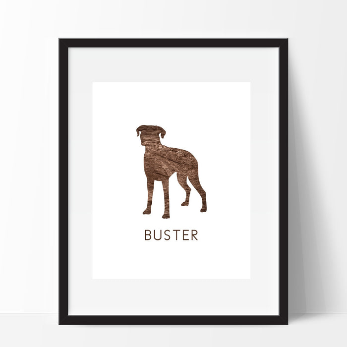 Personalized Dog Wall Art Boxer Breed