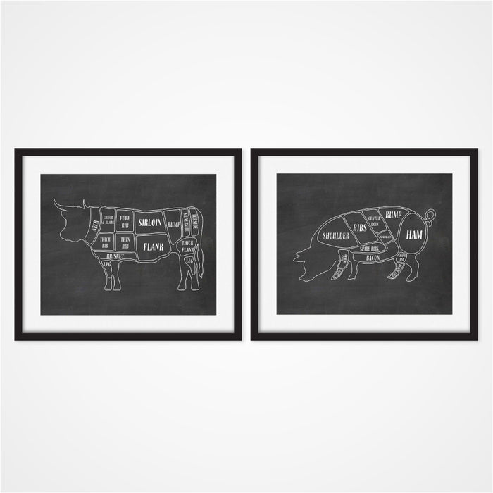 Butcher Wall Art in Chalkboard