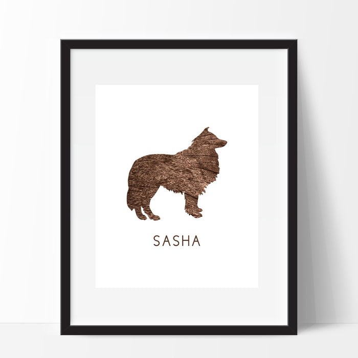 Collie Dog Wall Art Personalized