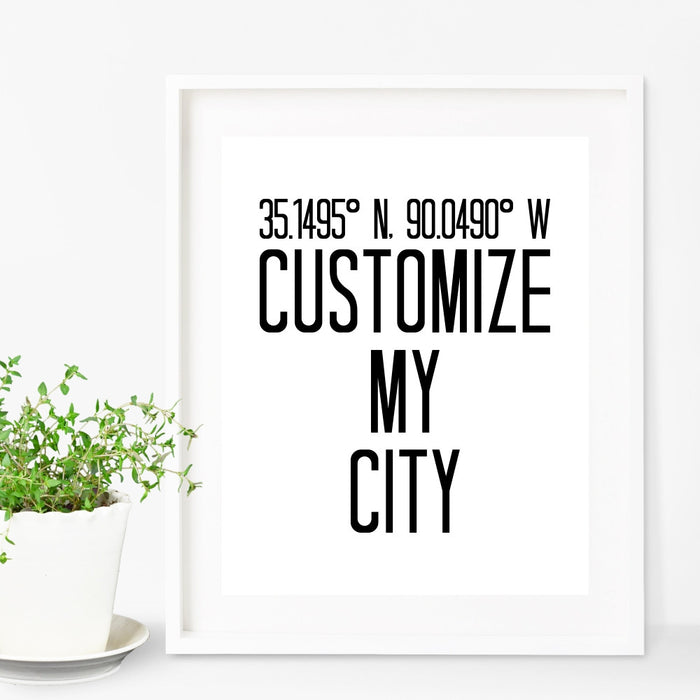 Customize City Wall Art