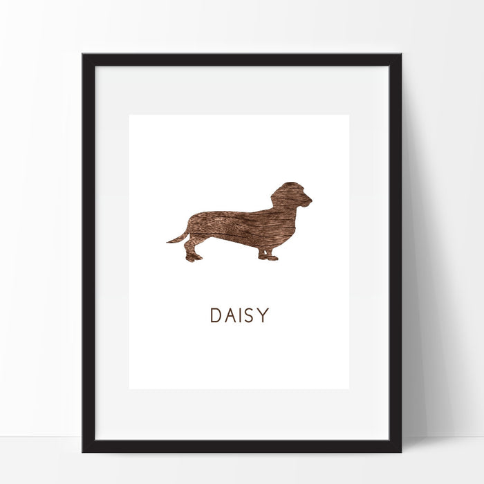 Dachshund Weiner Dog Wall Art Personalized