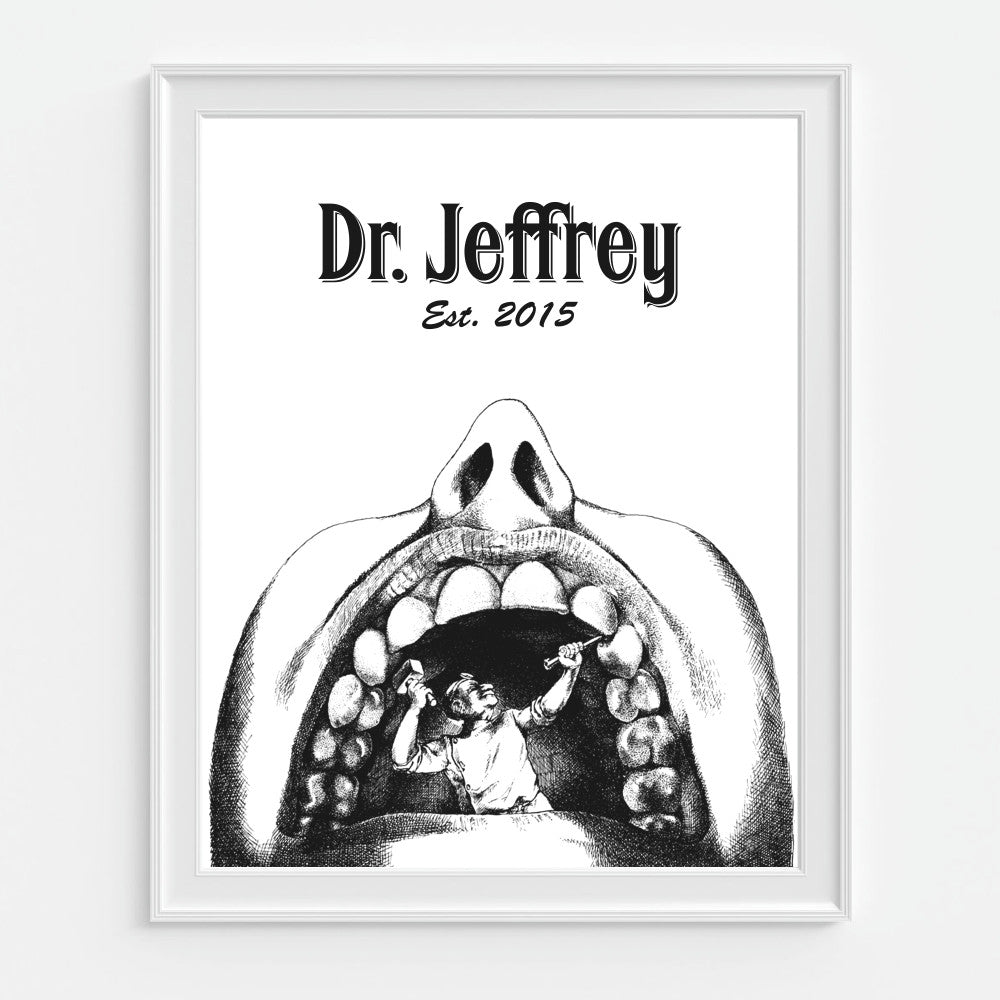 Dentist Wall Art Personalized Dental Office Print