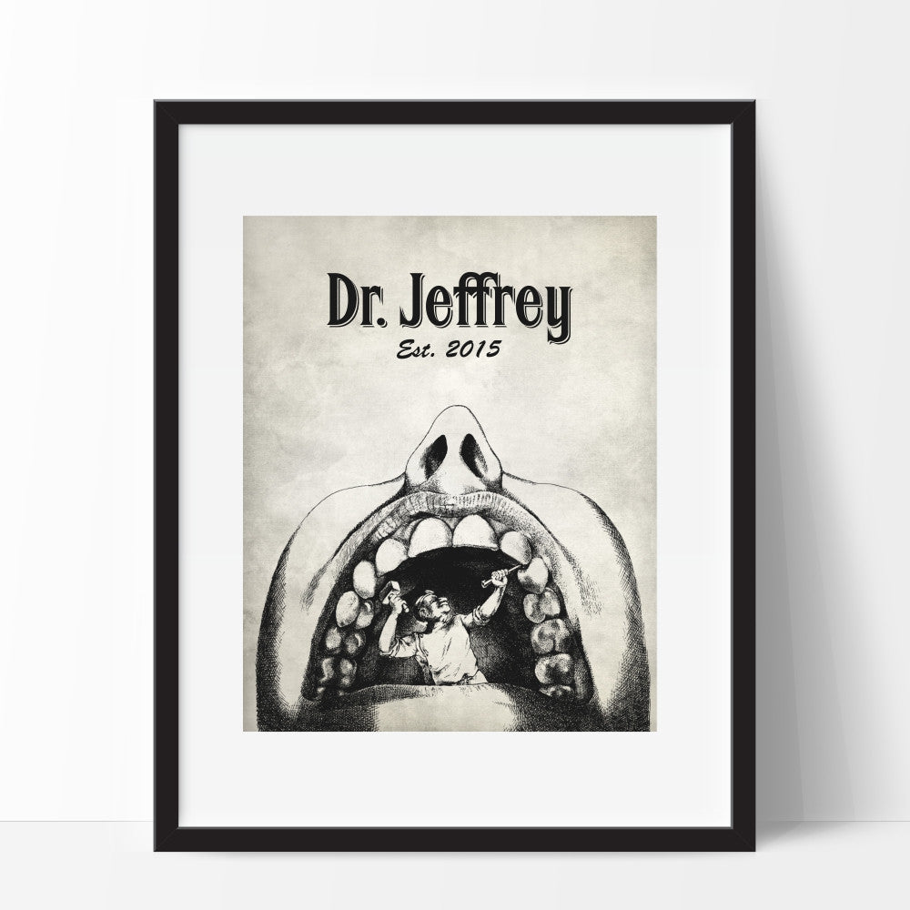 Personalized Dentist Wall Art