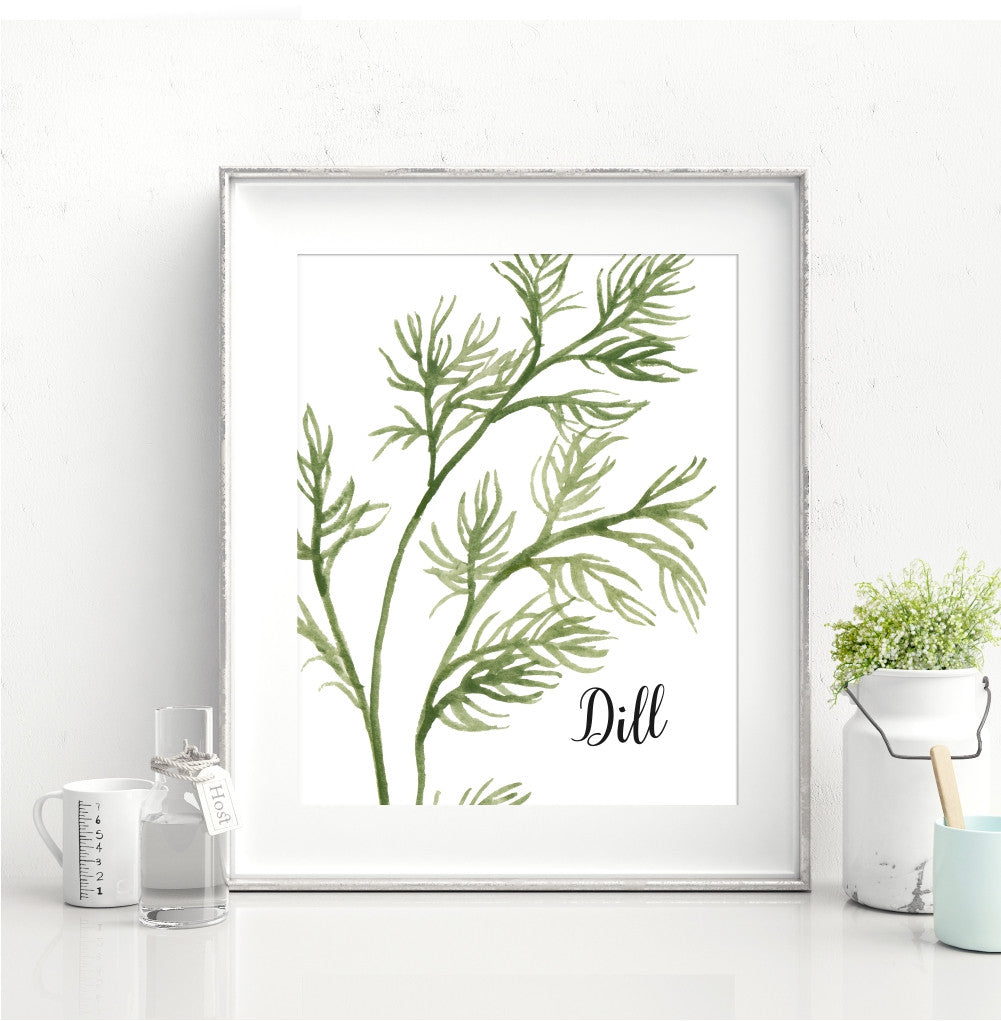 Watercolor Dill Wall Art