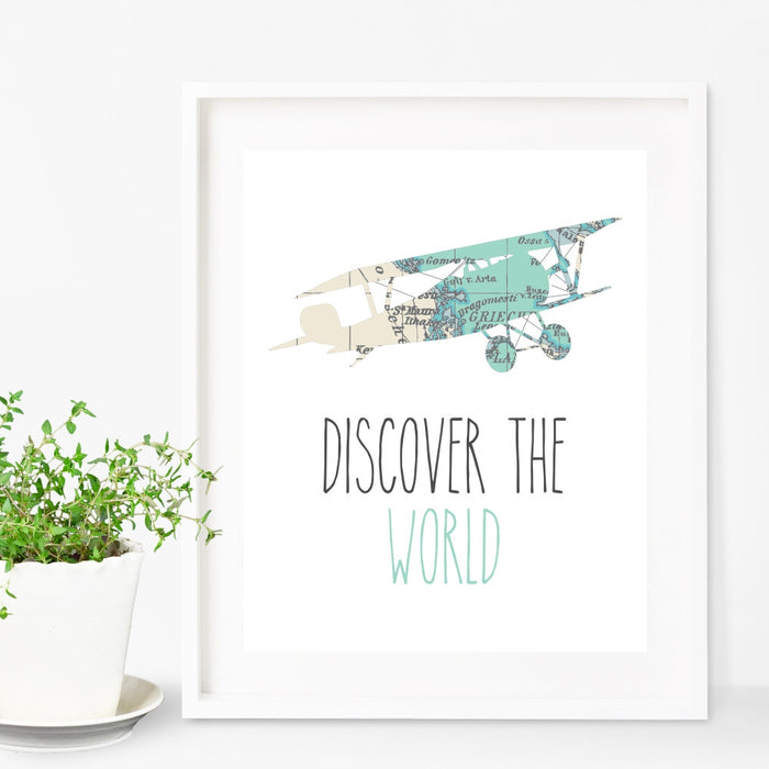 Airplane Wall Art Discover The World