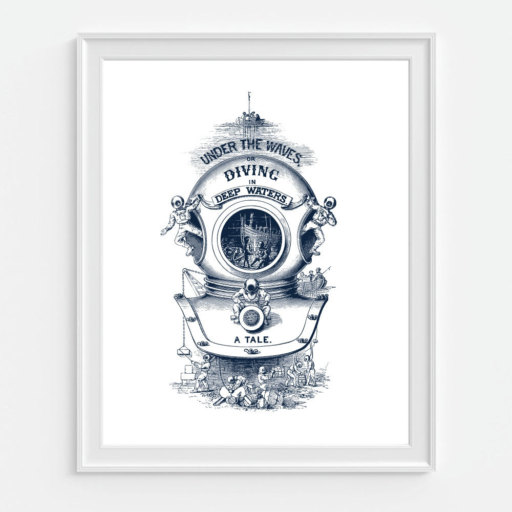 Nautical Diving Helmet Wall Art