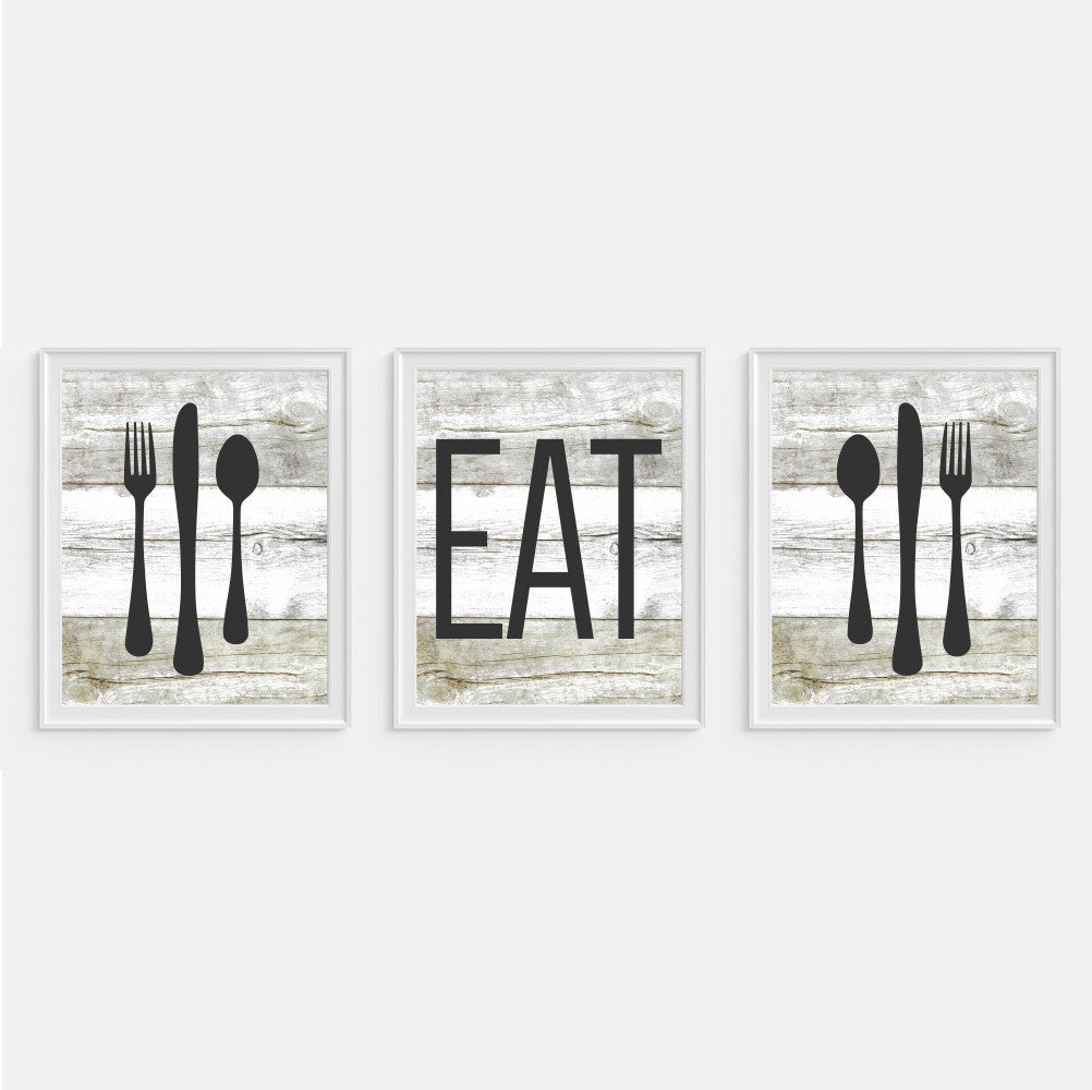 Rustic Eat Wall Art