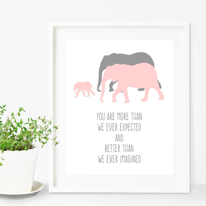 Quote Wall Art You Are More Than We Ever Expected And Better Than We Ever Imagined