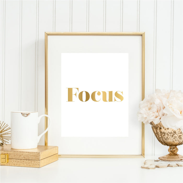Focus Gold Wall Art
