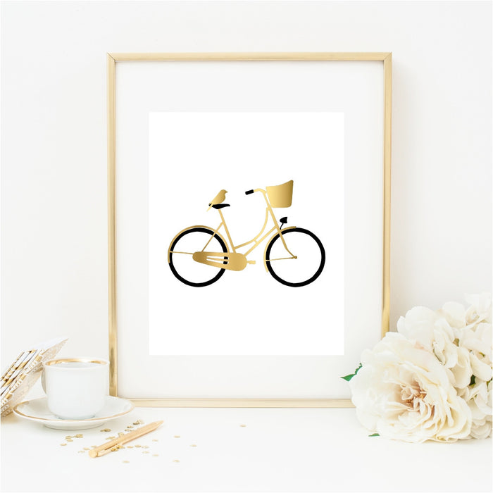 Bird on Bike Wall Art