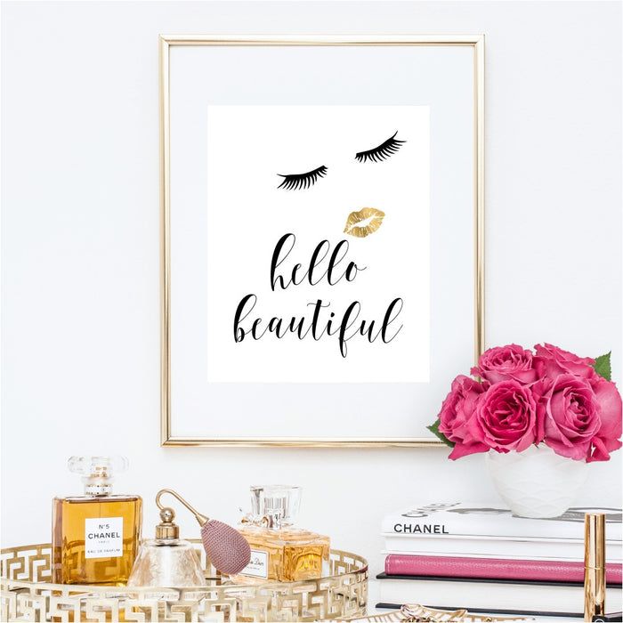 Hello Beautiful Fashion Wall Art