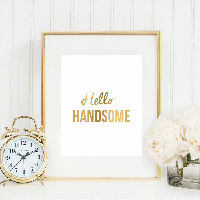 Hello Handsome Wall Art
