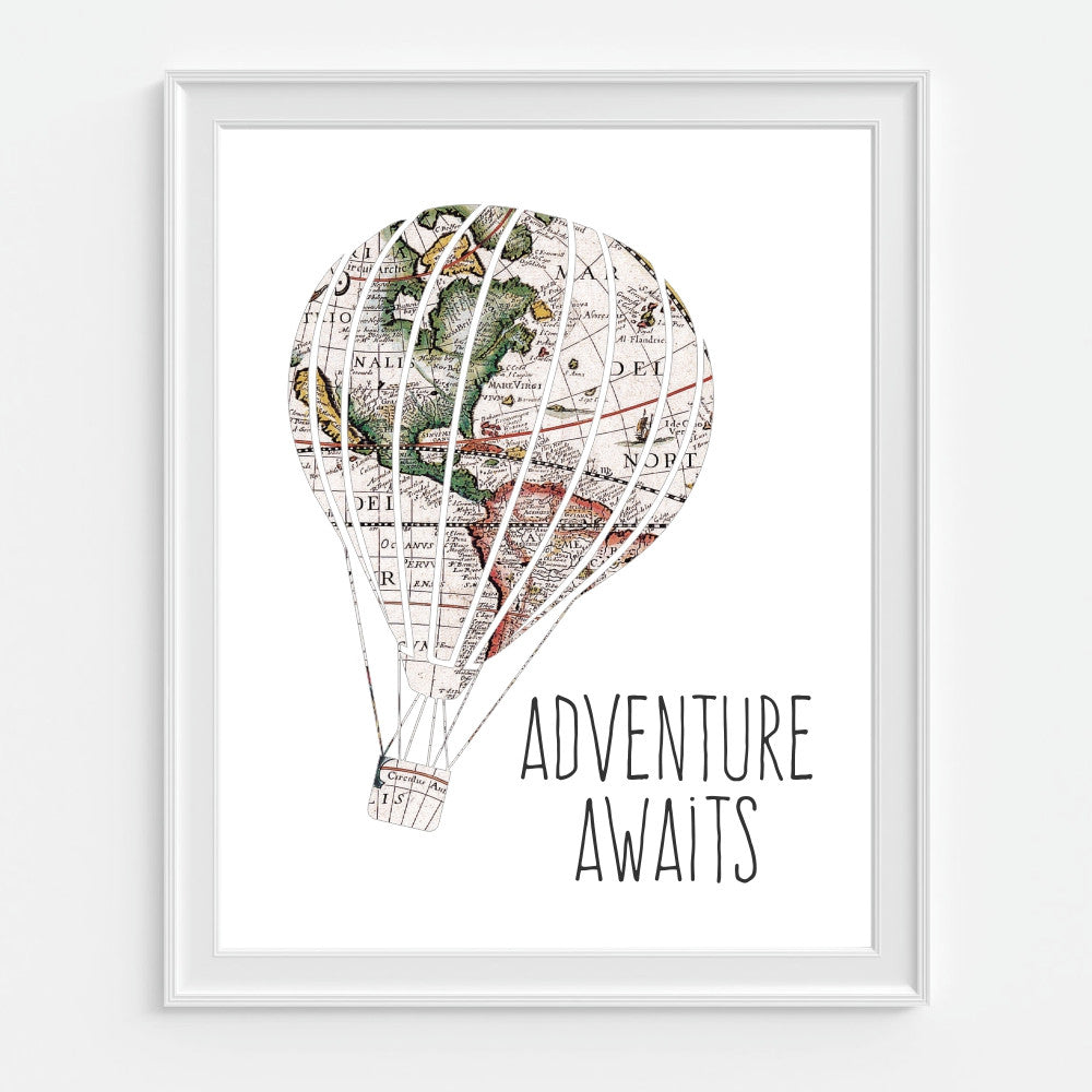 Hot Air Balloon Wall Art Adventure Awaits