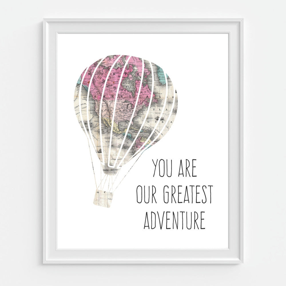Hot Air Balloon Wall Art You Are Our Greatist Adventure