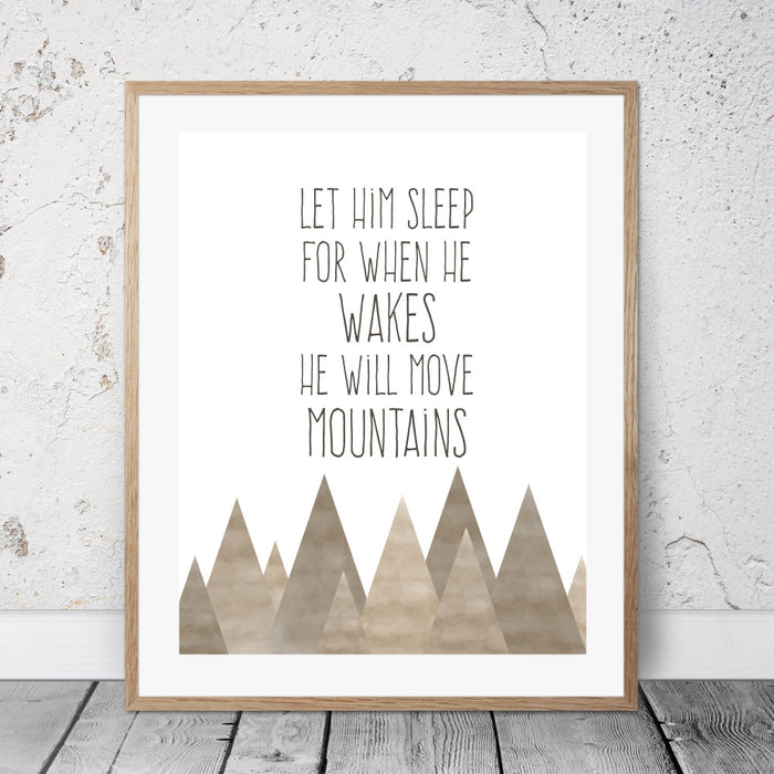Shakespeare with mountains Art print