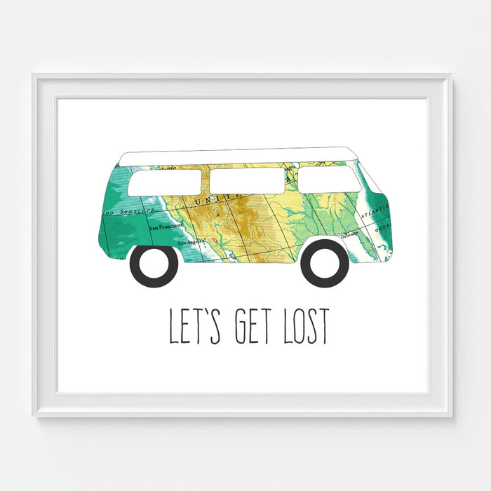 Lets Get Lost Wall Art