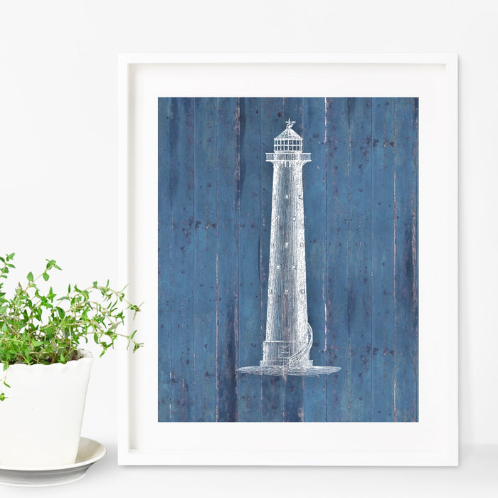 Lighthouse Nautical Art Print