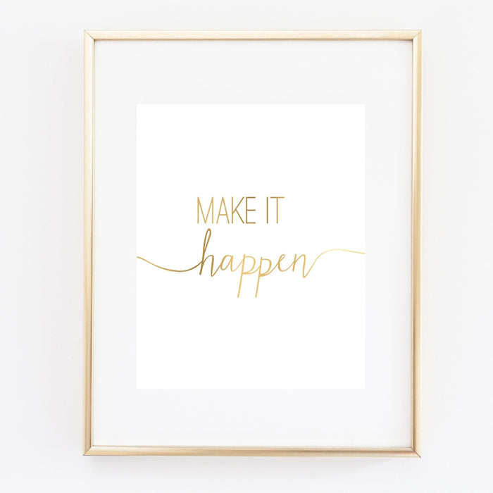 Make It Happen Gold Wall Art