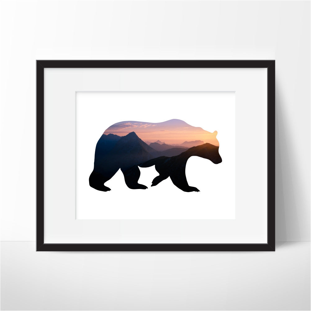 Mountain Bear Wall Art
