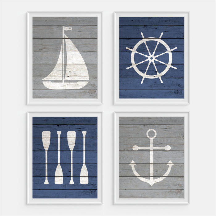 Children's Nautical Wall Art - Set of Four Prints