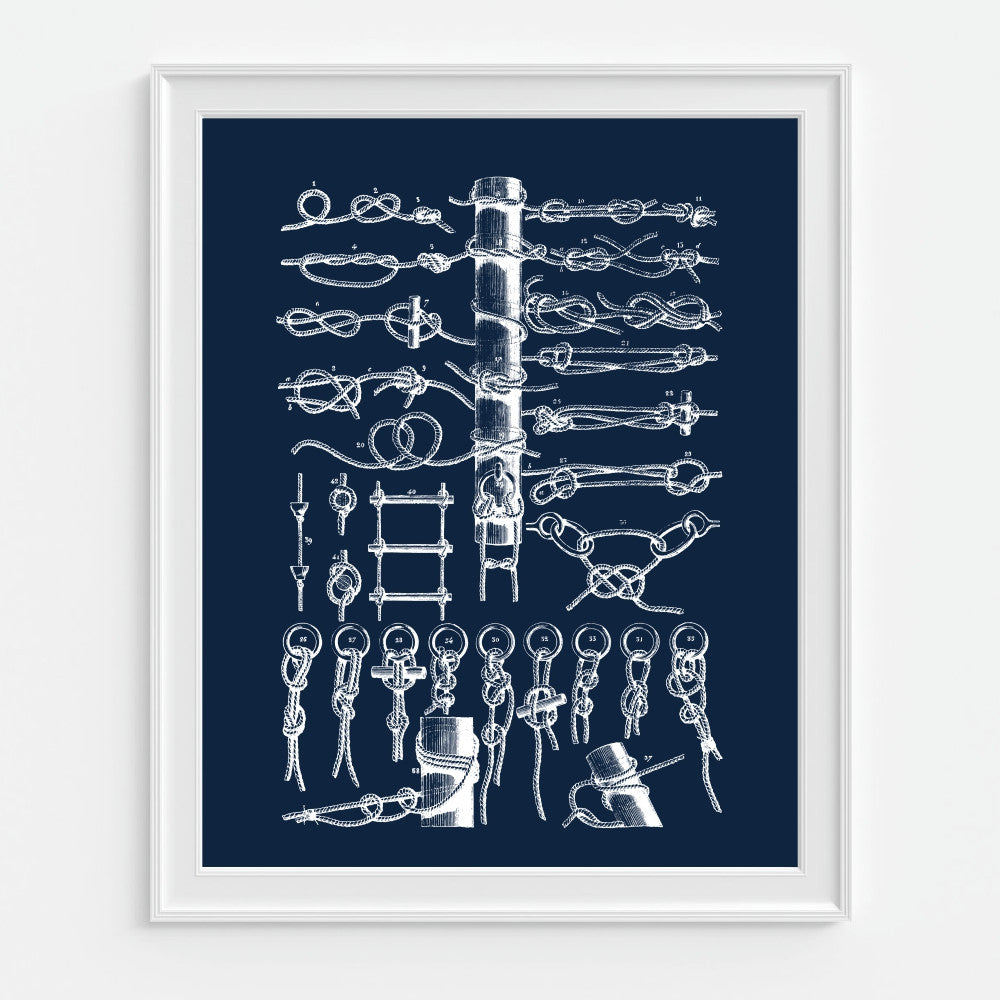 Sailing rope guide art. Nautical Decor