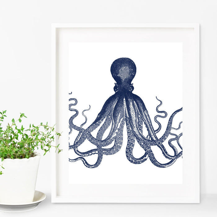 Octopus Wall Art in Blue